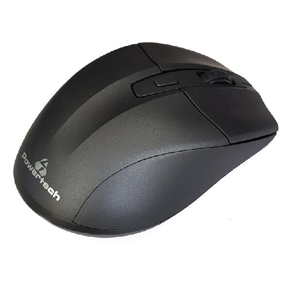 Ασύρματο ποντίκι POWERTECH PT-598, Οπτικό, 1600DPI, 6 πλήκτρα, μαύρο
