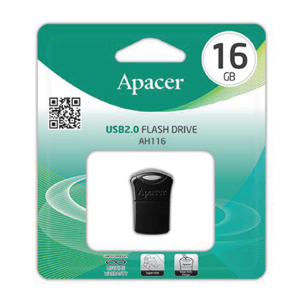 Apacer USB Flash Drive (AH116 – 16GB – 2.0)