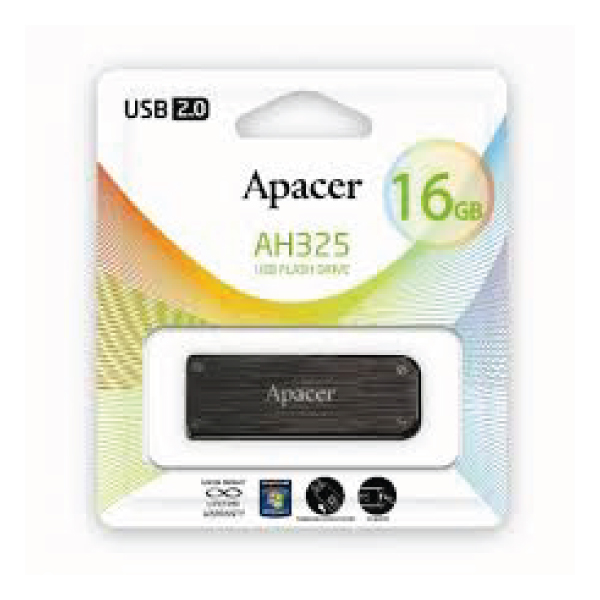 Apacer USB Flash Drive (AH325 – 16GB – 2.0)