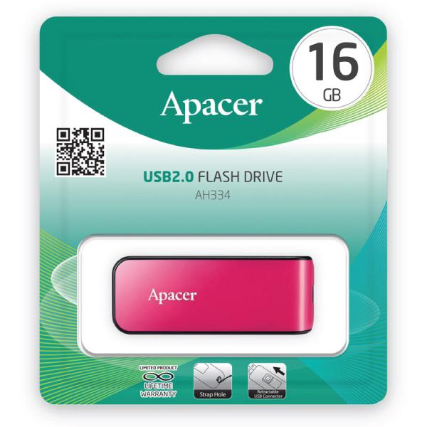 Apacer USB Flash Drive (AH334 – 16GB – 2.0)
