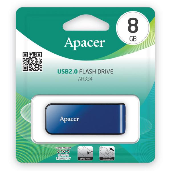 Apacer USB Flash Drive (AH334 – 8GB – 2.0)