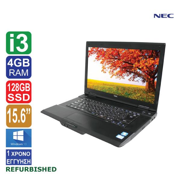Laptop 15.6″, NEC VersaPro VA-J, Intel Core i3 4100M (4ης γενιάς), 4GB RAM, 128GB SSD, DVD, Windows 10 Pro, ΑΠΟΣΠΩΜΕΝΗ WEBCAMERA FHD, VIA USB WIFI (ΕΚΘΕΣΙΑΚΟ ΠΡΟΙΟΝ made in Japan)