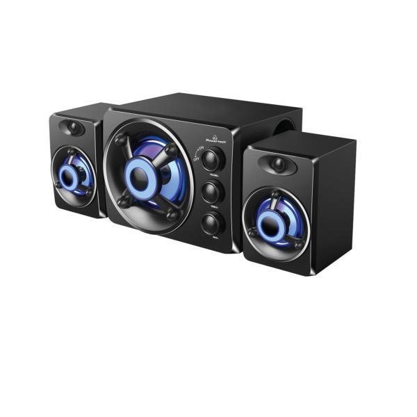 Ηχεία POWERTECH Crystal sound PT-841, 2.1ch, 3.5mm, μαύρα