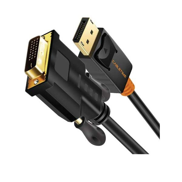 CABLETIME καλώδιο Display Port σε DVI, 1080p, 3m, μαύρο