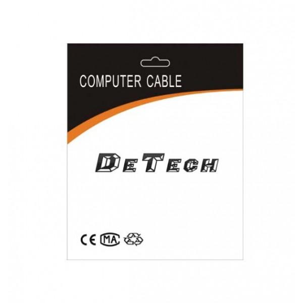 DeTech  καλώδιο Display Port σε Display Port, 1.8m, μαύρο