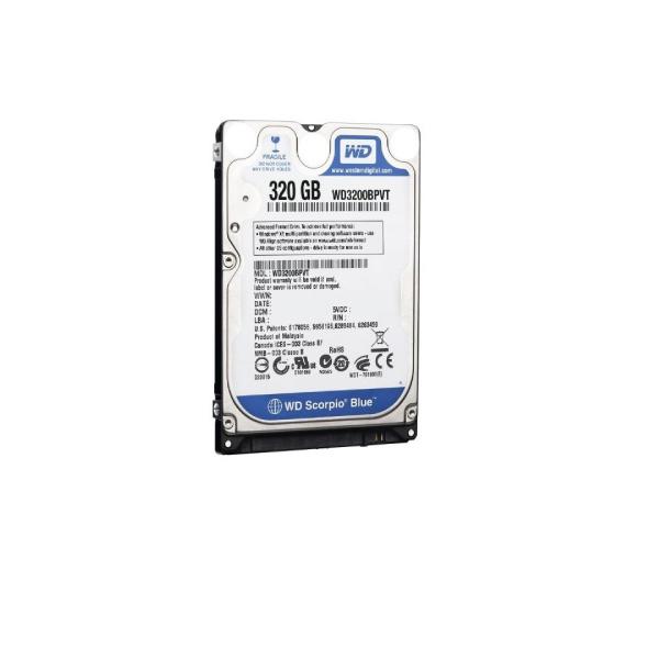 ΣΚΛΗΡΟΣ ΔΙΣΚΟΣ Western Digital Scorpio Blue SATA II 320 GB HDD
